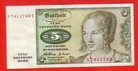 GERMANY BANKNOTE 5 MARK 1960