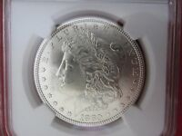 1880 US COIN $1 MORGAN SILVER DOLLAR NGC MS63