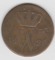 NETHERLANDS  1826 1 CENT  DATE KM 47 AG/FAIR DUTCH WORLD COIN