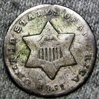 1851 O SILVER THREE CENT PIECE 3CP U.S. COIN     TYPE COIN    H712