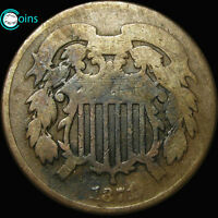 1871 SHIELD TWO CENT PIECE 2CP LOW MINTAGE  A605