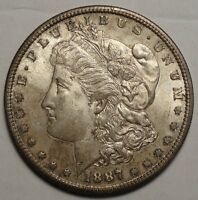 1887-S MORGAN DOLLAR, ORIGINAL  CHOICE UNCIRCULATED COIN  1120-10