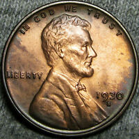 1930-S LINCOLN CENT WHEAT CENT ---- STUNNING BU ---- B975