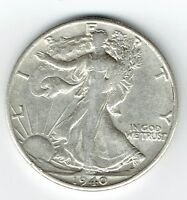1940 S WALKING LIBERTY HALF DOLLAR 90 SILVER US MINT EXACT COIN AS SHOWN