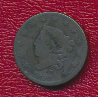 1830 CORONET HEAD LARGE CENT   COPPER    CIRCULATED