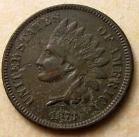 1873 INDIAN HEAD CENT   XF DETAILS  14452