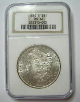 1880 S MORGAN DOLLAR   GRADED MS64 BY NGC