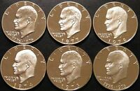 1973 1978 S EISENHOWER DOLLAR DCAM PROOF RUN CN CLAD IKE LOT US MINT 6 COIN SET