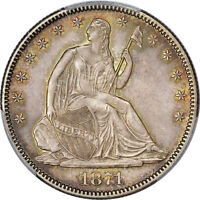 1871 PCGS MS 64 SEATED LIBERTY HALF DOLLAR 50C   POP 36 ONLY 17 HIGHER   WB 1 R5