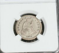 1859 S LIBERTY SEATED QUARTER   NGC VF DETAILS
