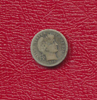 1916 S BARBER SILVER DIME  GOOD