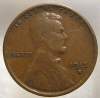 1913- S LINCOLN PENNY     DATE ONE CENT   K3