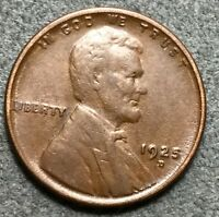 1925 D FINE F LINCOLN WHEAT CENT PENNY. G923 FREE S&H