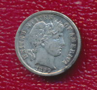1899 BARBER SILVER DIME VERY NICE CIRCULATED BARBER DIME
