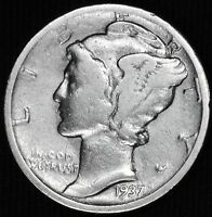 1937 P MERCURY DIME.BETTER GRADE 661