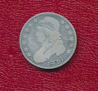 1826 CAPPED BUST SILVER HALF DOLLAR VERY NICELY CIRCULATED