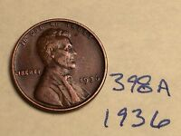 1936 LINCOLN CENT NICE DETAIL GREAT COIN 398A WHEAT BACK PENNY