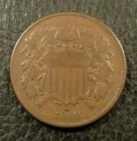 1868 TWO CENT PIECE SHIPS FREE AZ4COINS F868