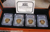 2007-S $1 PRESIDENTIAL DOLLAR 4 COIN PROOF SET ICG PR70 DCAM ONE OWNER