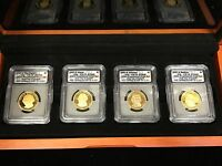 2007- 4 PIECE PRESIDENTIAL DOLLAR SET-ICG CERTIFIED PR70 DCAM WITH WOOD CASE