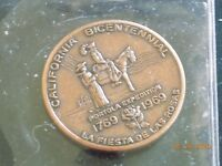 CALIFORNIA BICENTENNIAL COLLECTOR COPPER COIN 1769 1969