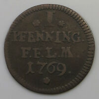 GERMAN STATES 1 PFENNIG 1769 FULDA   JD 131