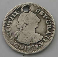 BOLIVIA 1/2 REAL 1774   IN 609