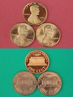 1984 P D S LINCOLN MEMORIAL CENTS MINT BU & PROOF 3 COINS FLAT RATE SHIPPING