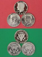 1980 P D S KENNEDY PROOF & BU HALF DOLLARS FROM MINT SETS FLAT RATE SHIPPING