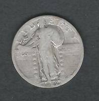 MJSTAMPSHOBBY 1927 US STANDING LIBERTY SILVER QUARTER   LOT1411