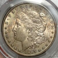 1887-S MORGAN DOLLAR, ORIGINAL CRUSTY UNCIRCULATED COIN  1120-10