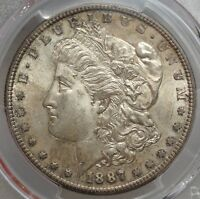 1887-S MORGAN DOLLAR, CRUSTY ORIGINAL CHOICE UNCIRCULATED COIN,  1104-14
