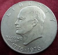 1976 EISENHOWER DOLLAR   VARIETY 2   HIGH GRADE    BEAUTIFUL TONING