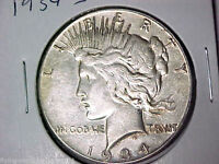 XF 1934 S PEACE SILVER DOLLAR LY FINE DETAILS SAN FRANCISCO MINT 1 1616