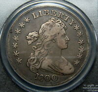 1800 DRAPED BUST DOLLAR PCGS VF25 CAC