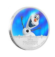 NIUE DISNEY $2 DOLLARS 1 OZ. SILVER PROOF COIN 2016 MINT FROZEN OLAF MAGIC QEII