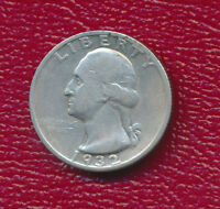 1932 S WASHINGTON SILVER QUARTER   KEY DATE    CIRCULATED
