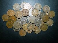 50 INDIAN HEAD CENTS FROM 1800S MIXED DATES & GRADES 2