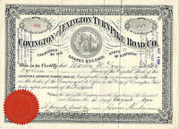 KENTUCKY 1900 COVINGTON & LEXINGTON TURNPIKE ROAD CO  STOCK CERTIFICATE