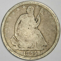 1844 O SEATED HALF DOLLAR   NICE ORIGINAL SOLID G PRICED RIGHT