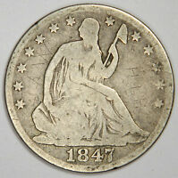 1847 O SEATED HALF DOLLAR   BOLD ORIGINAL VG/FINE PRICED RIGHT