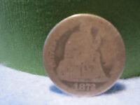 1872 SEATED LIBERTY SILVER DIME