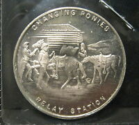 1860 1935 PONY EXPRESS OREGON TRAIL MEMORIAL SO CALLED HALF DOLLAR MEDAL   VK2