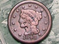 GREAT OLD    1848    LARGE CENT   COUNTERSTAMPED