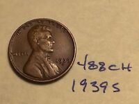 1939 S 1C BN LINCOLN CENT 488CH