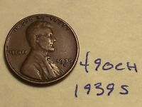 1939 S 1C BN LINCOLN CENT 490CH