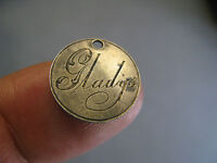 VICTORIAN BRITISH 3 PENCE LOVE TOKEN 1800S WITH ENGRAVED  NAME GLADY'S