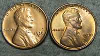 LOT OF 2 LINCOLN WHEAT CENT PENNIES 1930 AND 1930-S  -- STUNNING --  M237