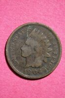 1904 INDIAN HEAD CENT PENNY NICE DETAILS FLAT RATE SHIPPING COIN 0031