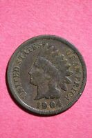 1904 INDIAN HEAD CENT PENNY NICE DETAILS FLAT RATE SHIPPING COIN 0027